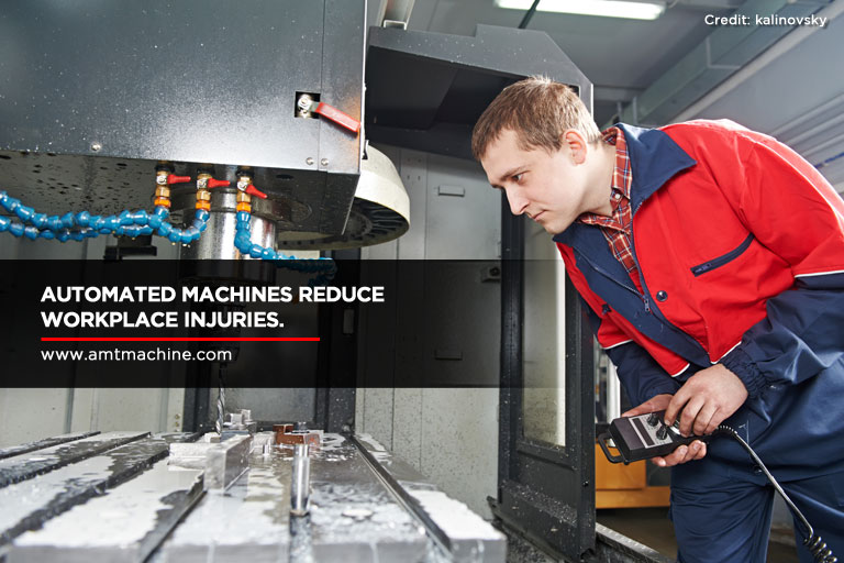 Automated machines reduce workplace injuries.