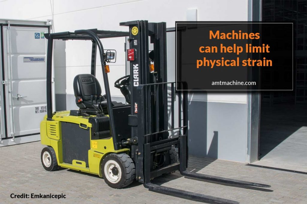 Machines can help limit physical strain
