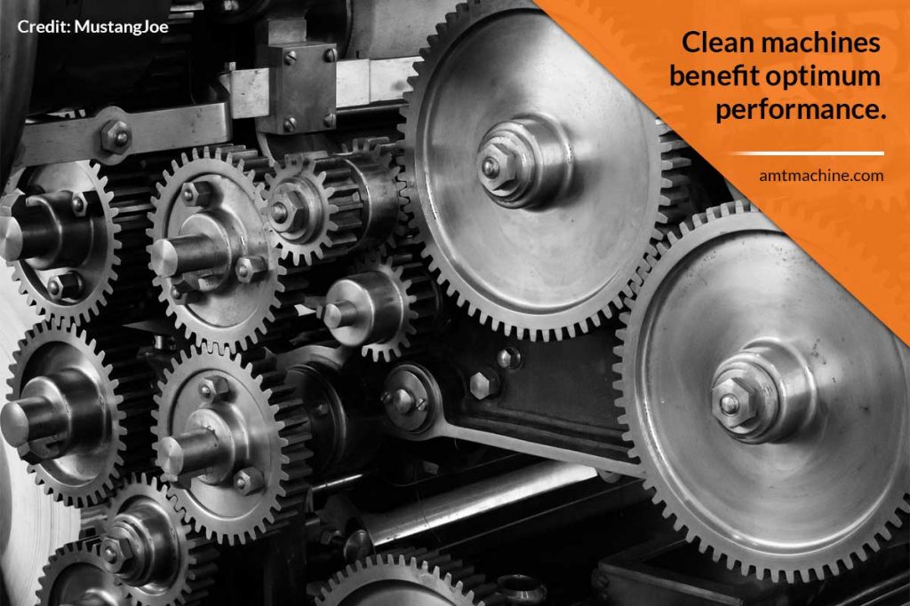 Clean machines benefit optimum performance.