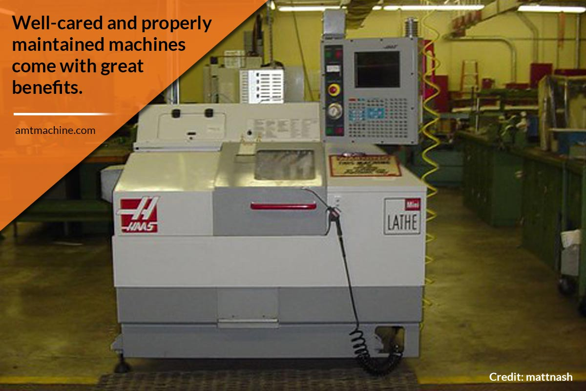 Well-cared and properly maintained machines come with great benefits.