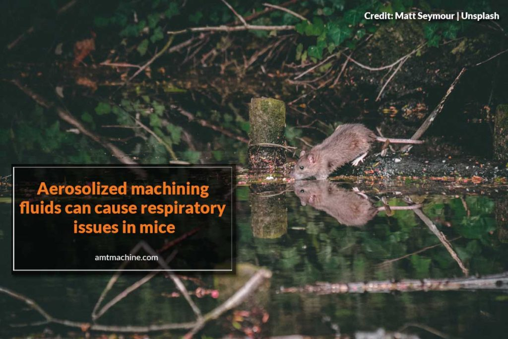 Aerosolized machining fluids can cause respiratory issues in mice